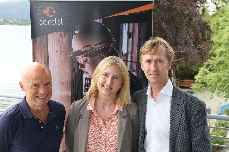 På bildet: Gründer Bernt Ulstein, Supportsjef Connie M. Crogh og ny CEO Gustav Line